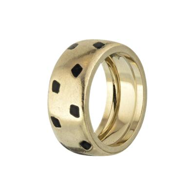Cartier CARTIER PANTHERE 18K WHITE GOLD SPOTTED LACQUER RING