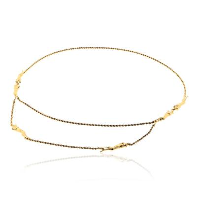 Cartier CARTIER PANTHERE 18K YELLOW GOLD 6 MOTIF LONG ROPE STRAND NECKLACE