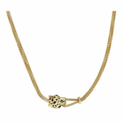 Cartier CARTIER PANTHERE 18K YELLOW GOLD HEAD COLLAR NECKLACE