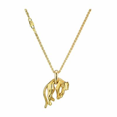 Cartier CARTIER PANTHERE 18K YELLOW GOLD SIGNATURE CHAIN PENDANT