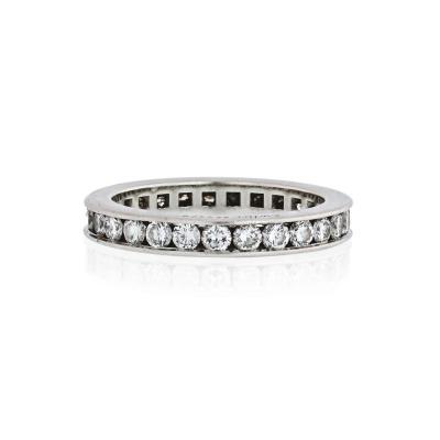 Cartier CARTIER PLATINUM CHANNEL SET APPROX 3 00 CTTW DIAMOND ETERNITY BAND