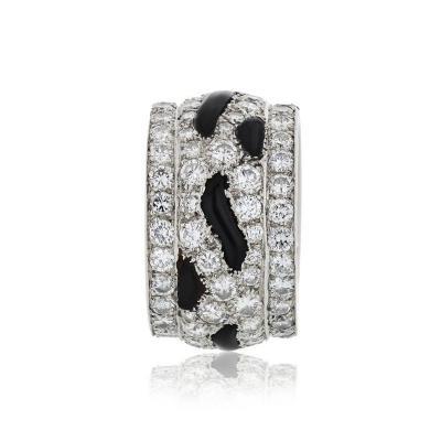 Cartier CARTIER PLATINUM NIGERIA DIAMOND AND ONYX ETERNITY BAND