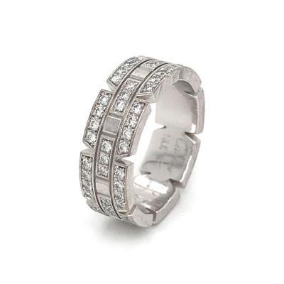 Cartier CARTIER TANK FRANCAISE 18K WHITE GOLD DIAMOND WEDDING BAND