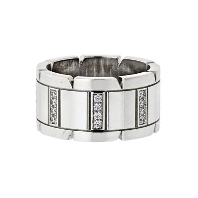 Cartier CARTIER TANK FRANCAISE 18K WHITE GOLD DIAMOND WEDDING BAND