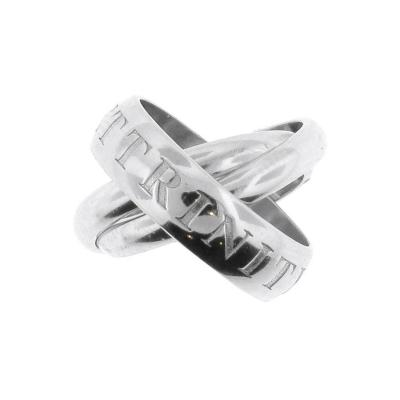 Cartier Cartier 18 Karat White Gold or Amour et Trinity Band Ring
