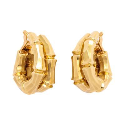Cartier Cartier 18k Gold Bamboo Hoop Earclips