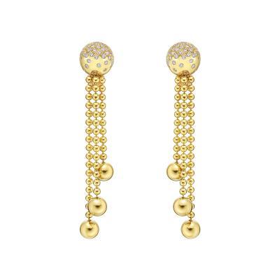 Cartier Cartier 18k Gold Diamond Pluie de Diamants Earrings