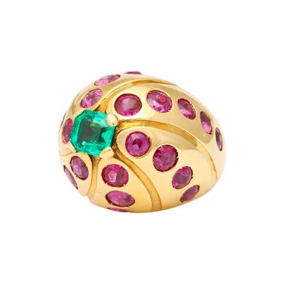 Cartier Cartier 18k Gold Emerald Ruby Ring