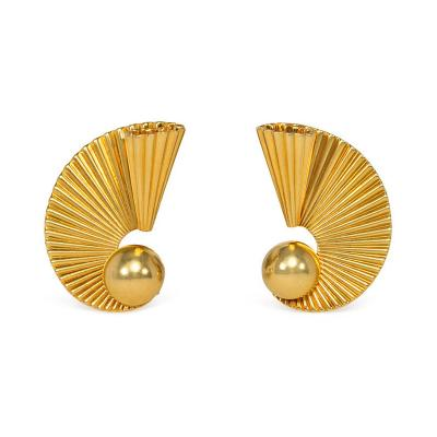 Cartier Cartier 1940s Gold Scroll Design Earrings