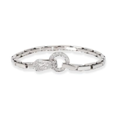 Cartier Cartier Agrafe Diamond Bracelet in 18K White Gold 1 13 CTW