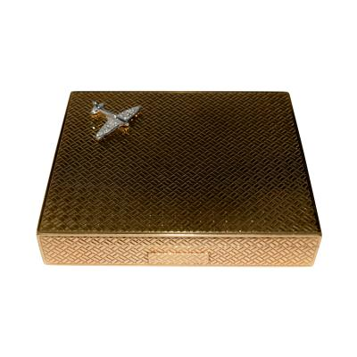 Cartier Cartier Airplane Gold Cigarette Box World War II