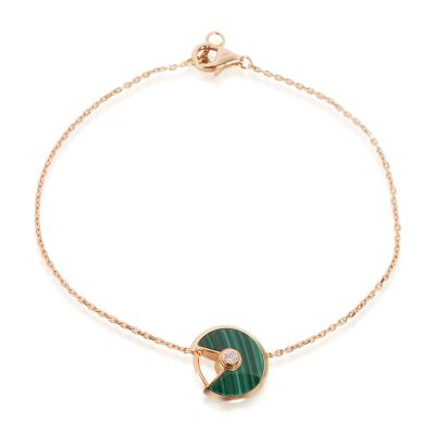 Cartier Cartier Amulette de Cartier Diamond Bracelet in 18K Pink Gold 0 02 CTW