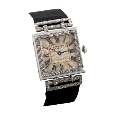 Cartier Cartier Art Deco Diamond and Platinum Tank Watch