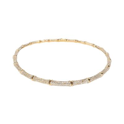 Cartier Cartier Bamboo Diamond Necklace in 18K Yellow Gold 22 00 CTW