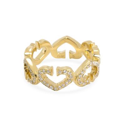 Cartier Cartier C Hearts of Cartier Diamond Ring in 18K Yellow Gold 0 60 CTW