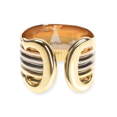 Cartier Cartier C de Cartier Double C Band in 18K 3 Tone Gold