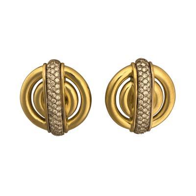 Cartier Cartier Cipullo diamond and gold earrings