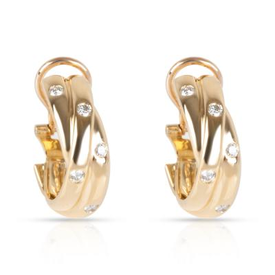 Cartier Cartier Constellation Diamond Earrings in 18K Yellow Gold 0 33 CTW
