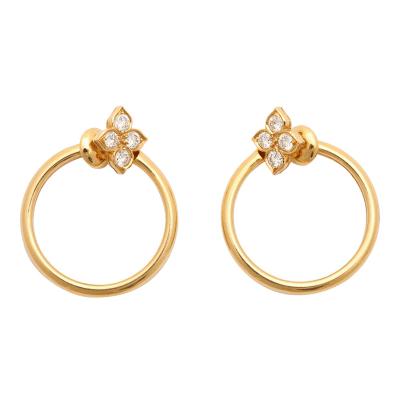Cartier Cartier Diamond Gold Hoop Earrings