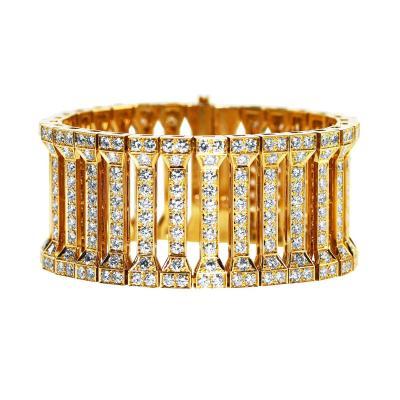 Cartier Cartier Diamond Gold Link Bracelet