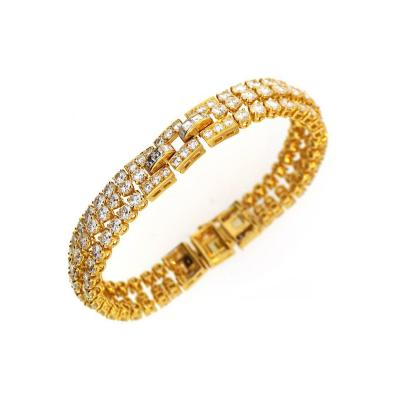 Cartier Cartier Diamond Gold Link Bracelet