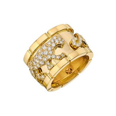 Cartier Cartier Diamond Gold Panther Band Ring