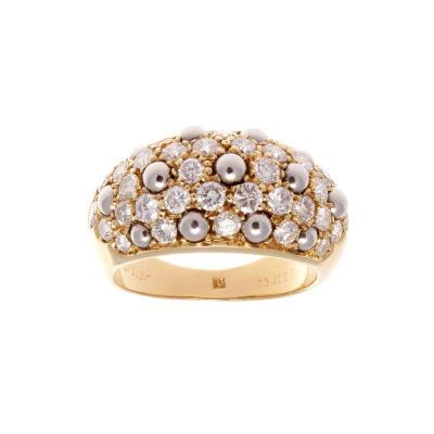 Cartier Cartier Diamond Hematite Gold Dome Ring