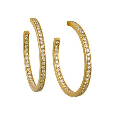 Cartier Cartier Diamond Hoop Earrings