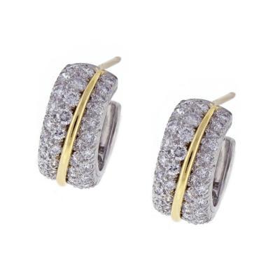Cartier Cartier Diamond Hoop Earrings