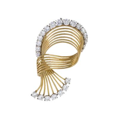 Cartier Cartier Diamond and 18kt Gold Brooch