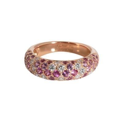 Cartier Cartier Etincelle Pink Sapphire Diamond Ring in 18K Rose Gold Pink 0 36 CTW