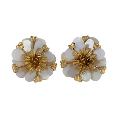 Cartier Cartier Gold and Mother of Pearl Earrings