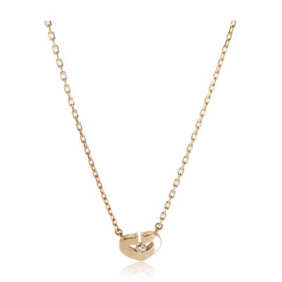 Cartier Cartier Hearts Symbols Diamond Necklace in 18K Pink Gold 0 01 CTW