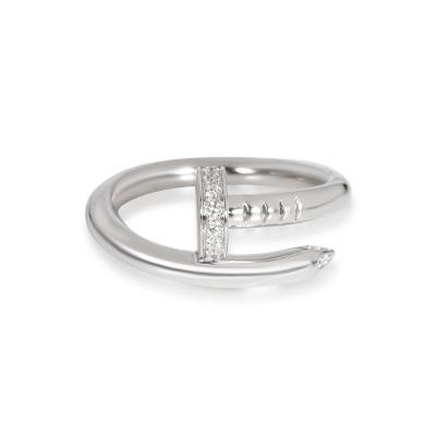 Cartier Cartier Juste un Clou Diamond Ring in 18K White Gold 0 11 CTW