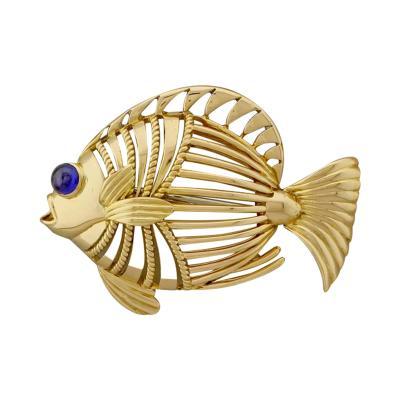 Cartier Cartier London Open Design Fish Brooch