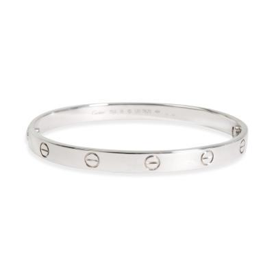 Cartier Cartier Love Bracelet in 18K White Gold Size 19 Unisex