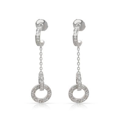 Cartier Cartier Love Dangle Diamond Earrings in 18K White Gold 1 02 CTW