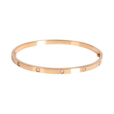 Cartier Cartier Love Diamond Bracelet in 18K Rose Gold 0 21 CTW