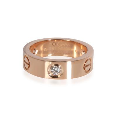 Cartier Cartier Love Diamond Ring in 18K Pink Gold 0 22 CTW