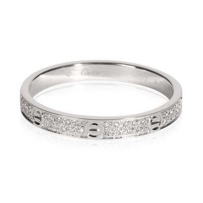 Cartier Cartier Love Diamond Ring in 18K White Gold 0 19 CTW
