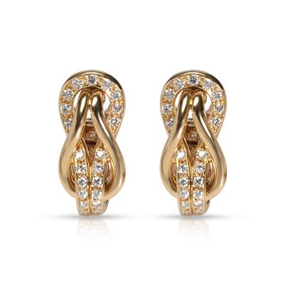Cartier Cartier Love Knot Diamond Earrings in 18K Yellow Gold 0 42 CTW