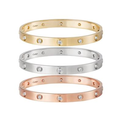 Cartier Cartier Love Three Bracelets Trinity Pink White and Yellow Gold Bangles