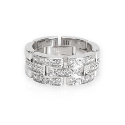 Cartier Cartier Maillon Panthere Diamond Band in 18K White Gold 0 5 CTW