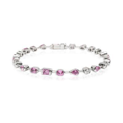 Cartier Cartier Meli Melo Pink Sapphire Diamond Bracelet in 18K White Gold 0 6 CTW