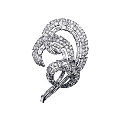 Cartier Cartier Mid 20th Century Diamond and Platinum Feather Brooch