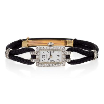 Cartier Cartier Paris Art Deco Diamond and Gold Watch