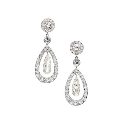 Cartier Cartier Paris Diamond Platinum Dangle Earrings