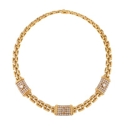 Cartier Cartier Paris Late 20th Century Diamond and Gold Trinidad Link Necklace