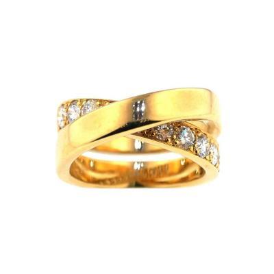 Cartier Cartier Paris Nouvelle Vague Crossover Diamond Gold Ring