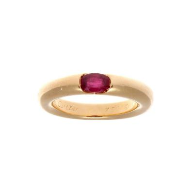 Cartier Cartier Ruby Gold Elipse Ring